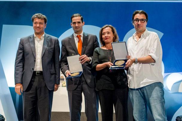 De izquierda a derecha: Pepe Martínez, Presidente de Aneimo, Gonzalo Saiz, Marketing Director de Bankinter, Pilar Ulecia, Managing Director de Starcom Madrid y Jaime Chavarri, Director Creativo Ejecutivo de JWT Madrid.